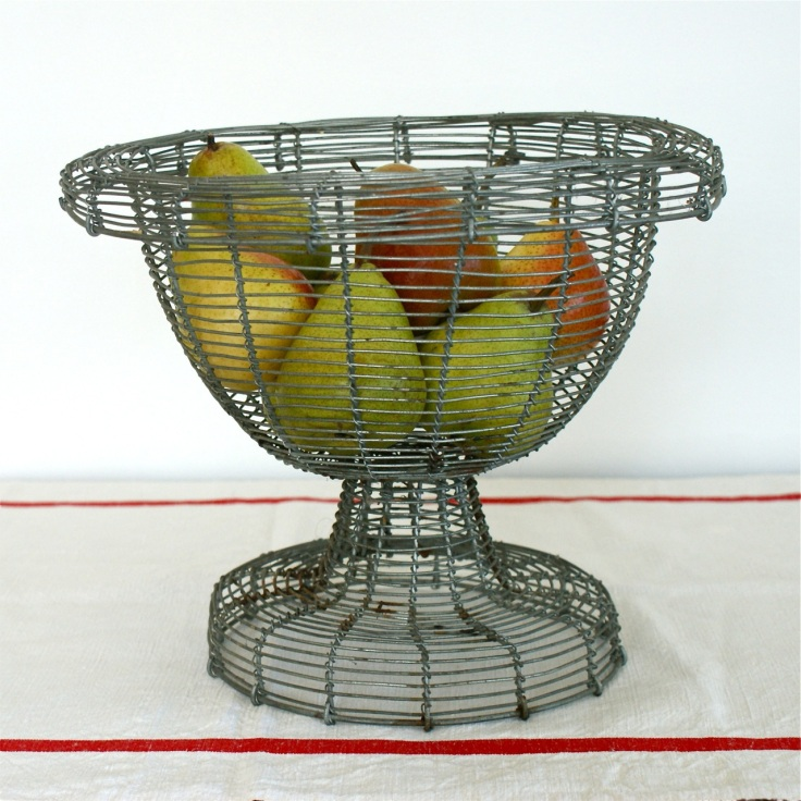vintage ancien panier wire metal basket bowl france french bayside vintage